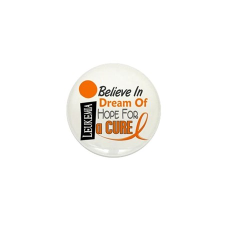BELIEVE DREAM HOPE Leukemia Mini Button