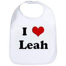 I Love Leah Bib