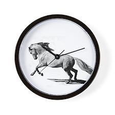 Cute Black horse Wall Clock