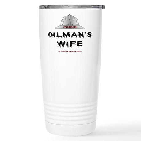 Proud Oilman's Wife Stainless Steel Travel Mug