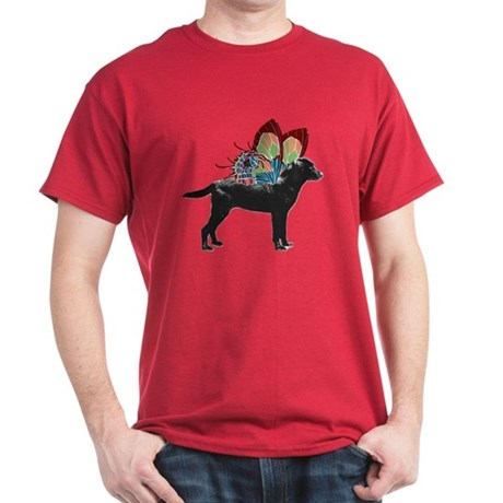 Butterfly Black Lab Dark T-Shirt