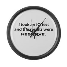 Negative IQ Large Wall Clock