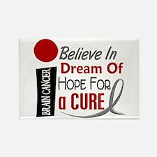 BELIEVE DREAM HOPE Brain Cancer Rectangle Magnet