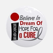 BELIEVE DREAM HOPE Brain Cancer Ornament (Round)
