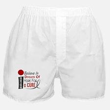 BELIEVE DREAM HOPE Brain Cancer Boxer Shorts