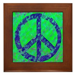 Splatter Peace Framed Tile