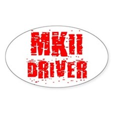 VW MKII (2) Driver Oval Decal