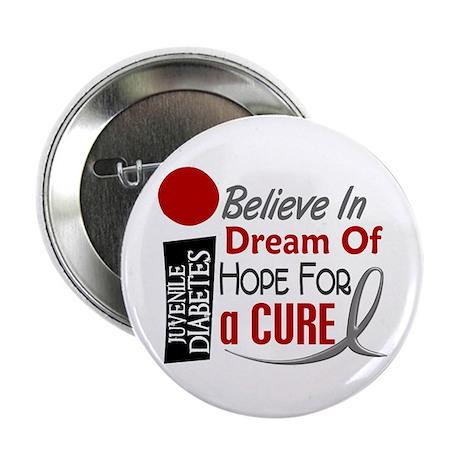 "BELIEVE DREAM HOPE J Diabetes 2.25"" Button"