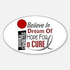 BELIEVE DREAM HOPE J Diabetes Oval Decal