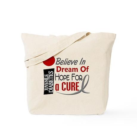 BELIEVE DREAM HOPE J Diabetes Tote Bag