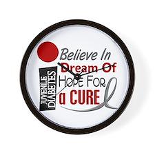 BELIEVE DREAM HOPE J Diabetes Wall Clock