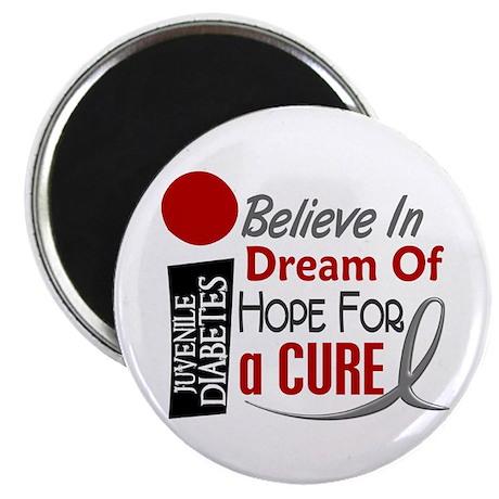"BELIEVE DREAM HOPE J Diabetes 2.25"" Magnet (100 pa"