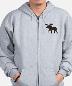 Moose Zipped Hoody