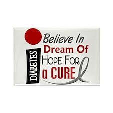 BELIEVE DREAM HOPE Diabetes Rectangle Magnet