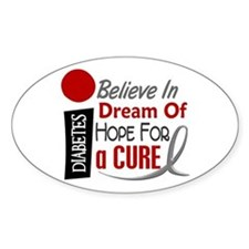 BELIEVE DREAM HOPE Diabetes Oval Decal