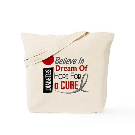 BELIEVE DREAM HOPE Diabetes Tote Bag