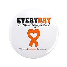 "Leukemia MissMyHusband 3.5"" Button (100 pack)"