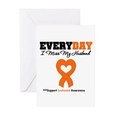 Leukemia MissMyHusband Greeting Card