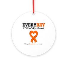 Leukemia MissMyHusband Ornament (Round)