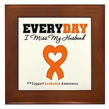 Leukemia MissMyHusband Framed Tile