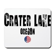 Crater Lake Grunge Mousepad