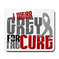 I Wear Grey For The Cure 6 Mousepad