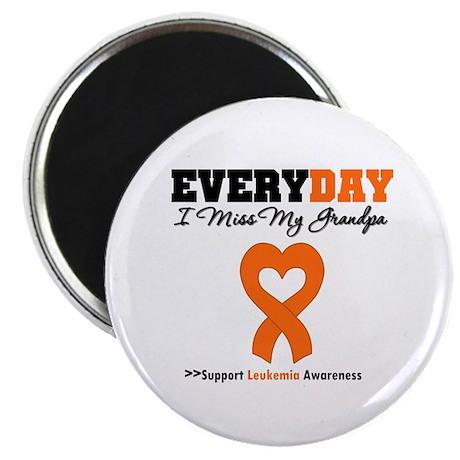 """Leukemia MissMyGrandpa 2.25"""" Magnet (10 pack)"""