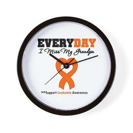 Leukemia MissMyGrandpa Wall Clock