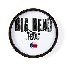 Big Bend Grunge Wall Clock