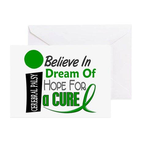 BELIEVE DREAM HOPE Cerebral Palsy Greeting Cards (