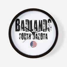 Badlands Grunge Wall Clock