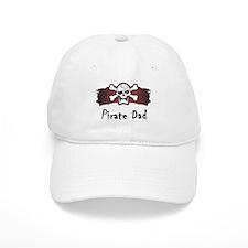 Skull & Crossbones Pirate Dad Baseball Cap