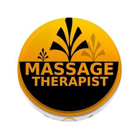 "Massage Therapist 3.5"" Button"