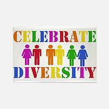 Celebrate Diversity Rectangle Magnet