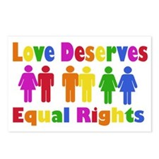 Love Deserves Equal Rights Postcards (Package of 8