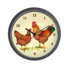 New Hampshire Chickens Wall Clock