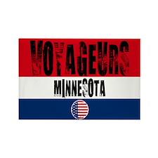 Voyageurs Grunge Rectangle Magnet
