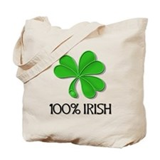 green shamrock3 Tote Bag