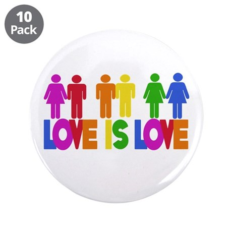 "Love is Love 3.5"" Button (10 pack)"