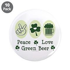 Peace Love Green Beer 3.5