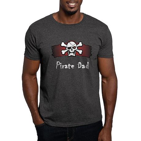 Skull & Crossbones Pirate Dad Dark T-Shirt