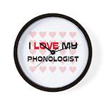 I Love My Phonologist Wall Clock