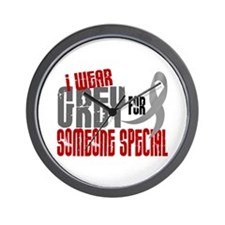 I Wear Grey For Someone Special 6 Wall Clock