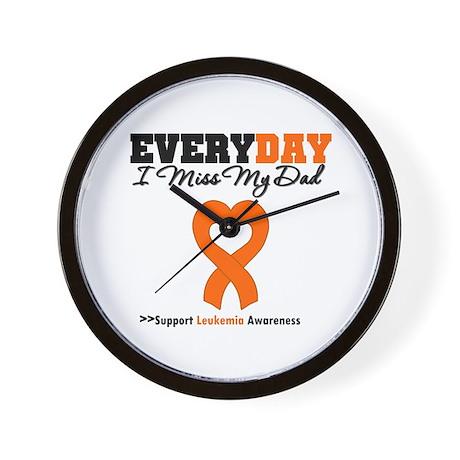Leukemia MissMyDad Wall Clock