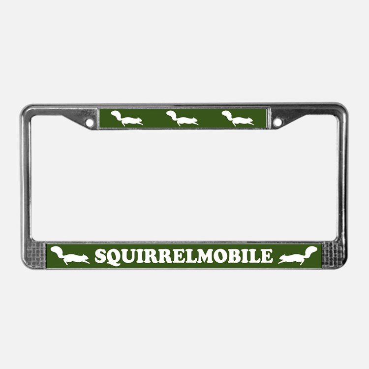 Squirrelmobile License Plate Frame