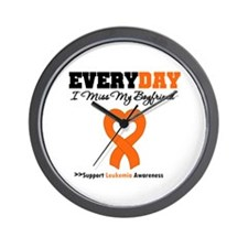 Leukemia MissMyBoyfriend Wall Clock