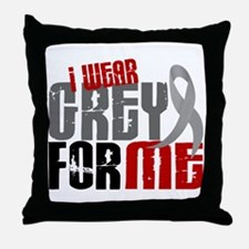 I Wear Grey For Me 6 Throw Pillow