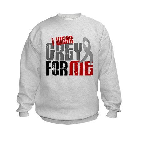 I Wear Grey For Me 6 Kids Sweatshirt