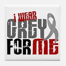 I Wear Grey For Me 6 Tile Coaster