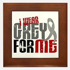 I Wear Grey For Me 6 Framed Tile